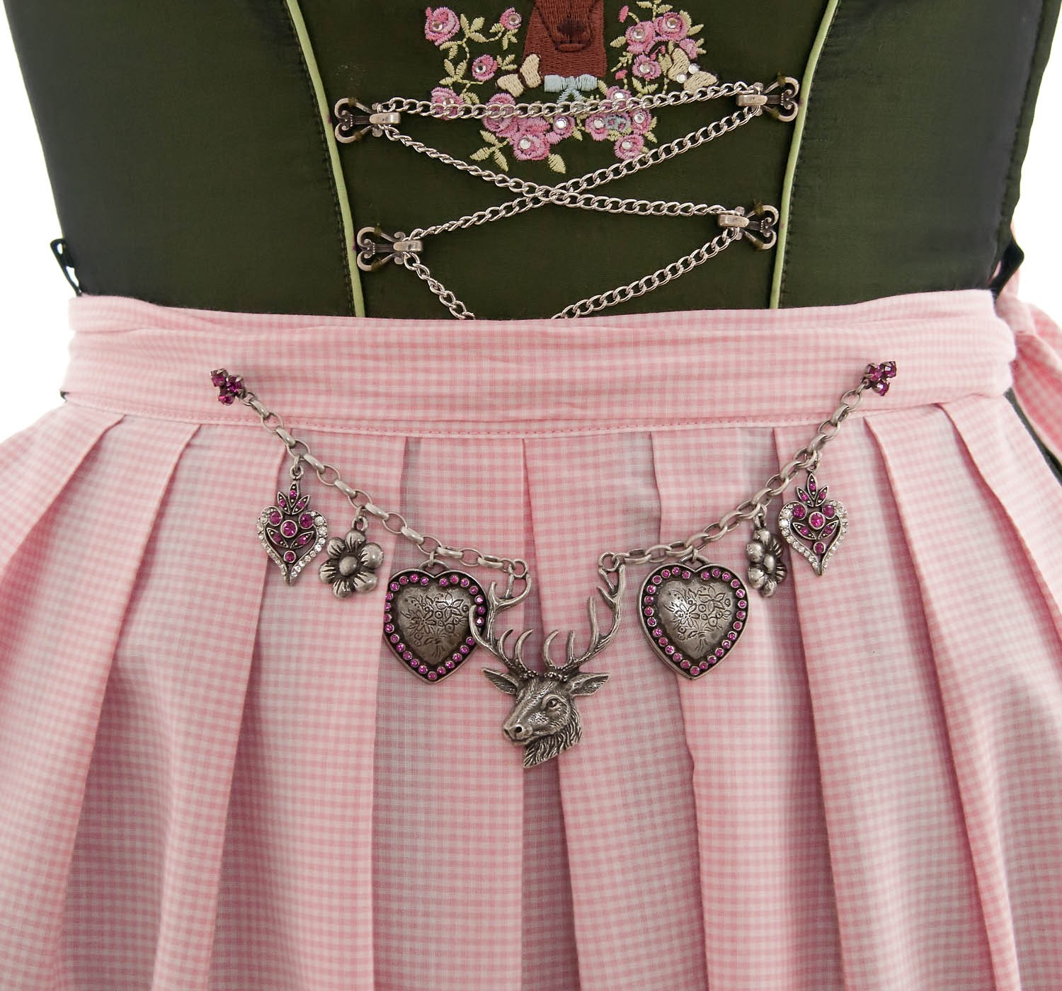 exklusives charivari mit pin f r dirndl swarovski pink. Black Bedroom Furniture Sets. Home Design Ideas