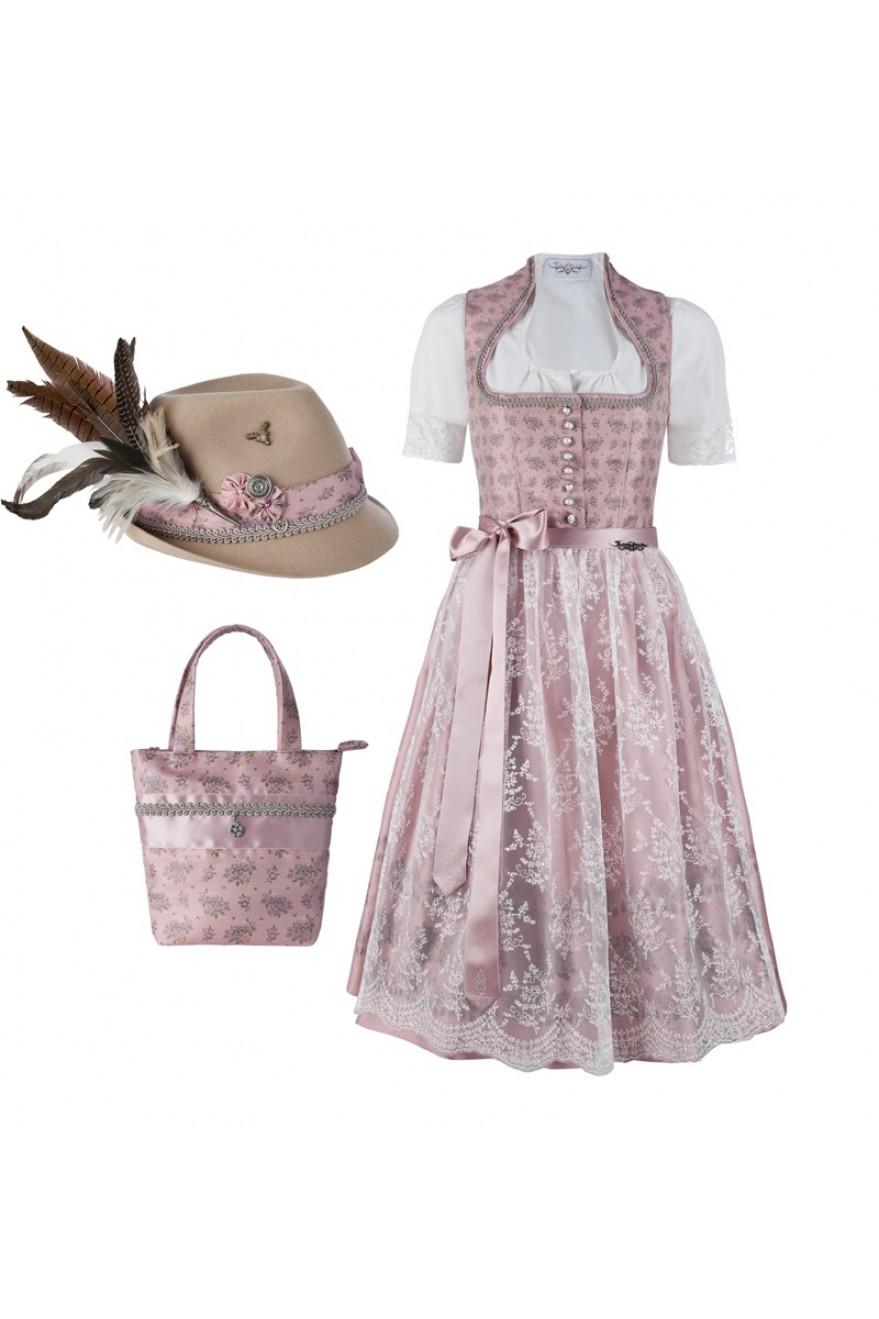 Bezauberndes dirndl rosalie mit spitzenschürze für festliche ...