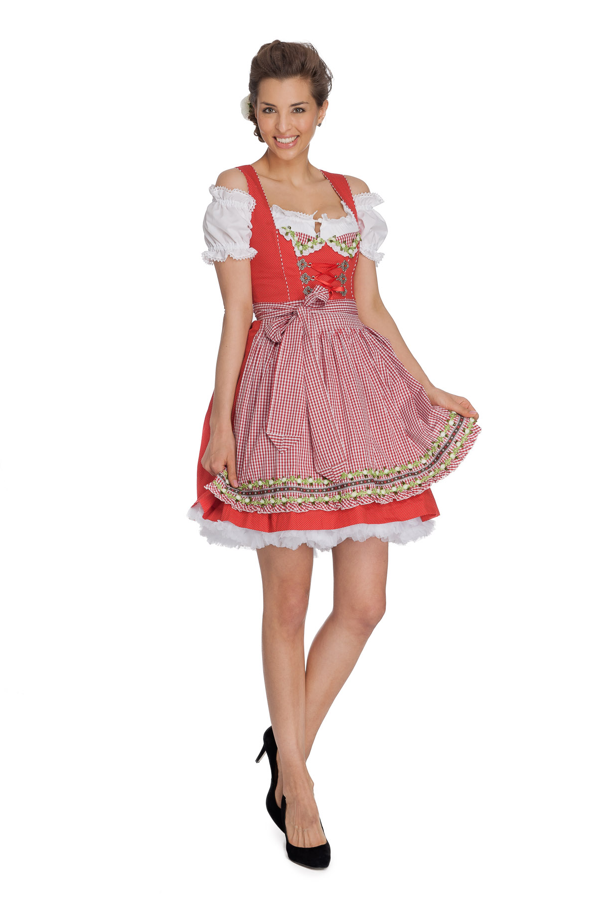 kr ger madl mini dirndl red candy ebay. Black Bedroom Furniture Sets. Home Design Ideas