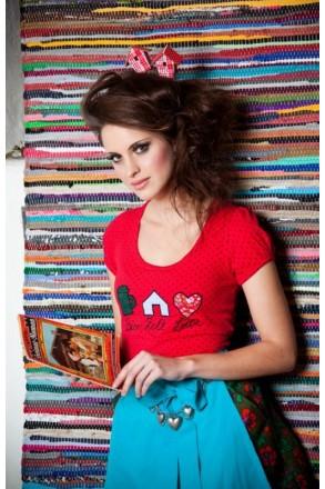 T-Shirt Bier Zelt Liebe rot