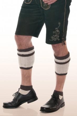 Kniebundstrümpfe Loferl braun beige rechts