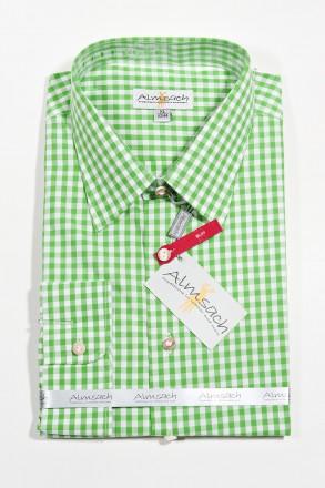 Trachtenhemd Karo Slimline apple