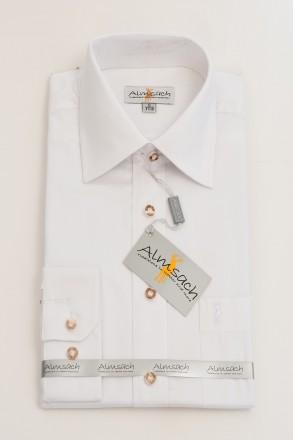 Trachtenhemd Klassik weiß Almsach Trachtenhemden