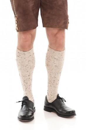 Kniebundstrümpfe natur meliert Trachtenstrümpfe Ansicht 1