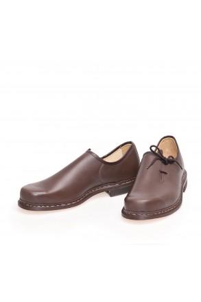 Haferlschuhe Trachtenschuhe braun Leder- oder Profilsohle