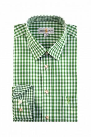 Almsach Trachtenhemd Slim Line grün
