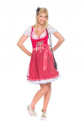 """Mini Dirndl rot """"Betty"""" Alpenfee-Dirndl Ansicht vorne 2"""