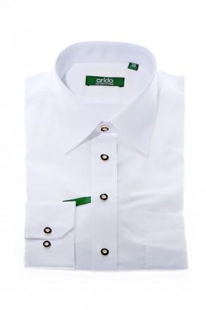 Hochwertiges Arido Trachtenhemd mit Liegekragen slimline weiss