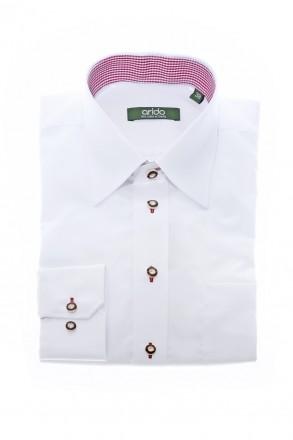 Hochwertiges Arido Trachtenhemd mit Liegekragen smiline, rot