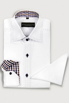Designer Trachtenhemd Kinga Mathe Farbe weiss Ansicht Produkt