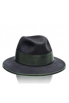 Hochwertiger Trachtenhut schwarz/grün