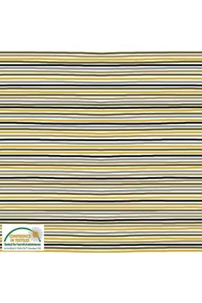 Jersey Stoff Streifen gelb
