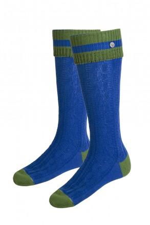 Trachtenstrümpfe Trachtenstutzen blau / grün von Kitzalm