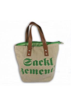 My Dascherl Sackl Zement Mini kurzer Griff Grün
