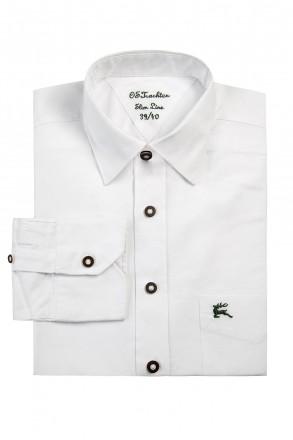 Klassisches Trachtenhemd Slim Line mit besticktem Hirschen