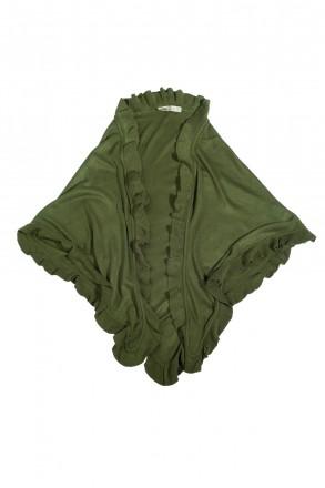 Trachtentuch Poncho Stola Schultertuch Strickponcho grün