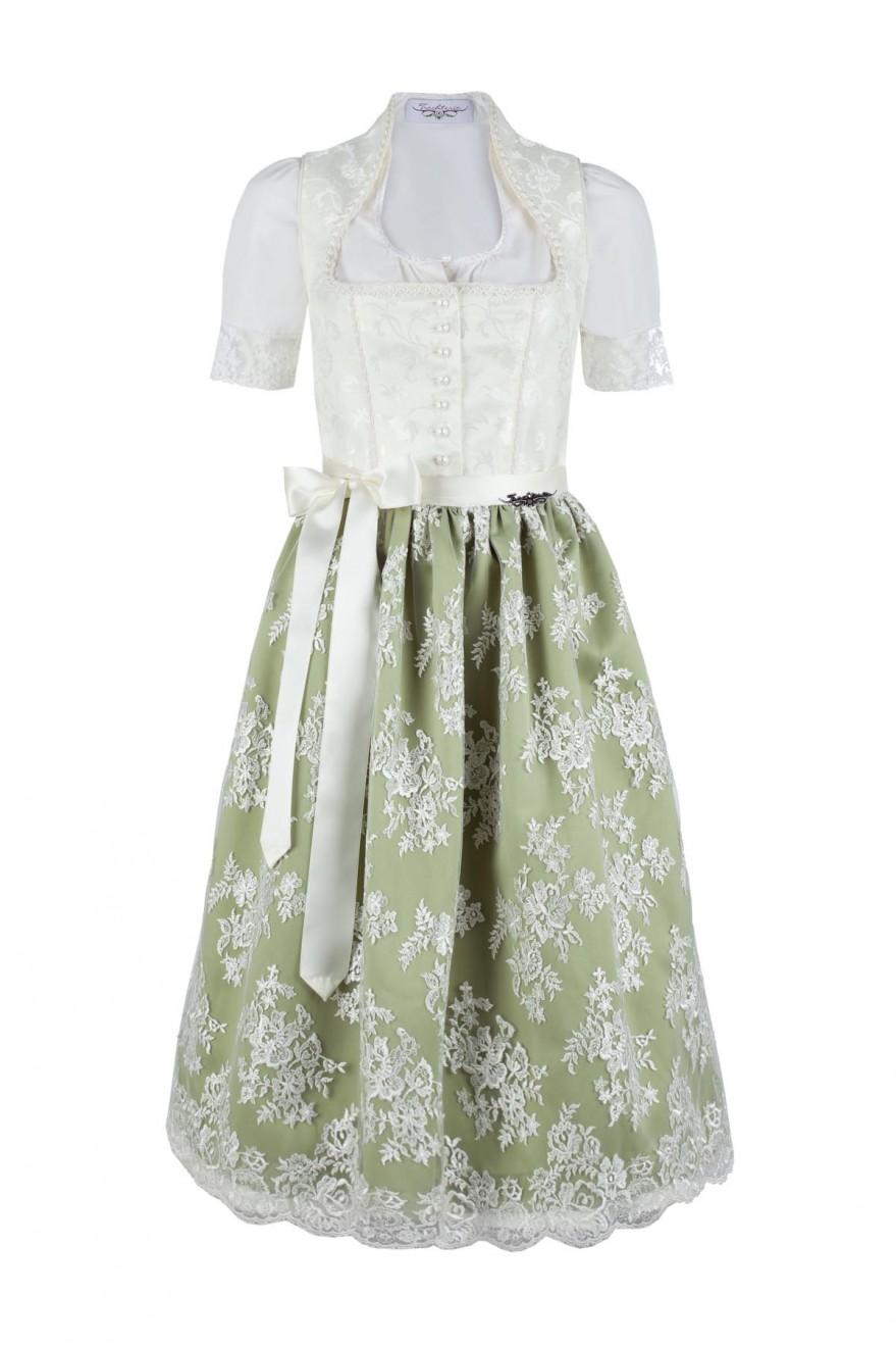 Bezauberndes Brautdirndl Lydia creme/grün Trachteria