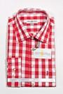 Trachtenhemd karo rot-weiss Almsach Trachtenhemden