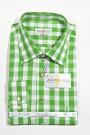 Karo-Trachtenhemd apfelgrün-weiss Almsach Trachtenhemden