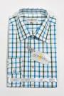 Trachtenhemd karo grün-blau weiss Almsach Trachtenhemden