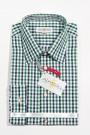 Trachtenhemd Karo grün-schwarz-weiss Almsach Trachtenhemden
