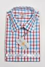 Trachtenhemd karo blau-rot-weiss Almsach Trachtenhemden