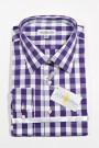Trachtenhemd karo lila-weiss Almsach Trachtenhemden