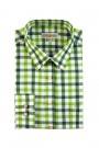 Almsach Trachtenhemd Slim Line grün tanne tricolor herren trachtenhemden
