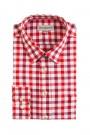 Almsach Trachtenhemd Slim Line rot tricolor herren trachtenhemden