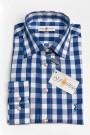 Karo-Trachtenhemd blau-weiss Almsach Trachtenhemden