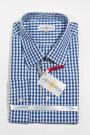 Trachtenhemd Karo fein weiss-blau Almsach Trachtenhemden
